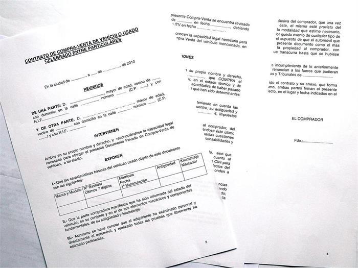 Contrato De Compraventa De Un Coche Noticias Coches Net