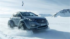 Un Hyundai Santa Fe cruza la Antártida en 30 días