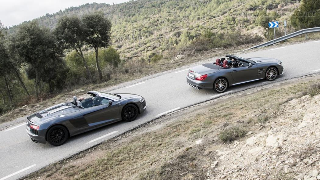 Audi R8 Spyder vs Mercedes-AMG SL 63