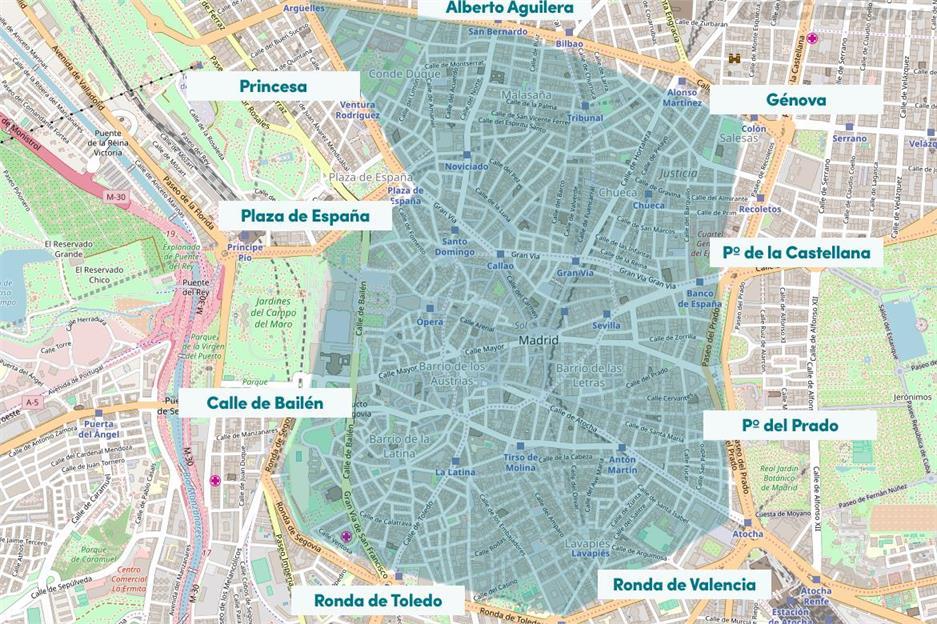 Mapa Zona Azul Y Verde Madrid.Si No Tienes Un Coche Con Etiqueta No Podras Entrar En