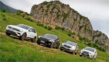 Comparativo SUV: VW Tiguan, Honda CR-V, Mazda CX-5, Subaru Forester