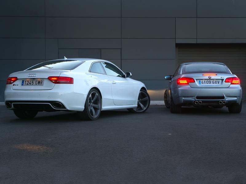 Fotos Audi Rs5 Contra Bmw M3 Cabrio Audi Rs5 Contra Bmw